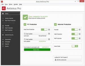 Avira Antivirus Pro 15.0.43.27 + Crack [Latest 2019] Free