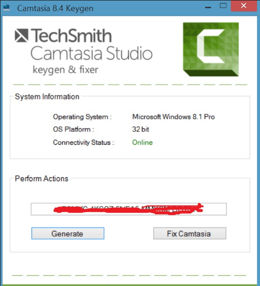 Camtasia Studio 9.1.1 Serial Key