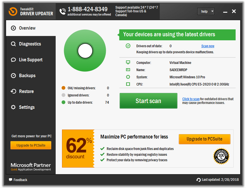 TweakBit Driver Updater 2.0.1.2 Crack + License Number