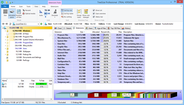 TreeSize Professional Full Version 7 0 5 1407 With Crack [Portable Free]